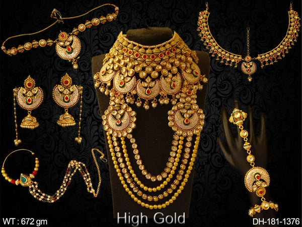 Multi Chand Traditional Kundan Dulhan Set