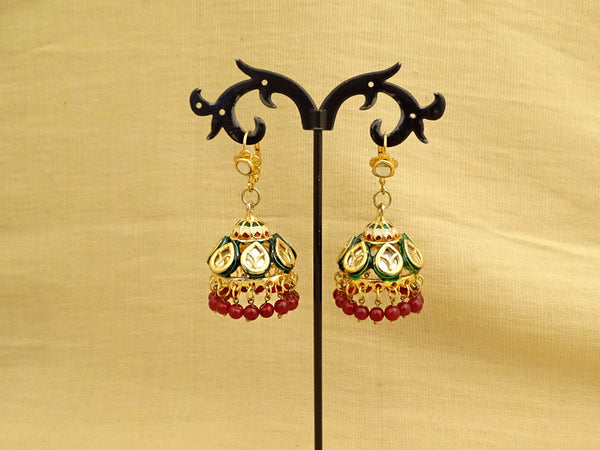 Paan Décor Jhumki Kundan Earrings