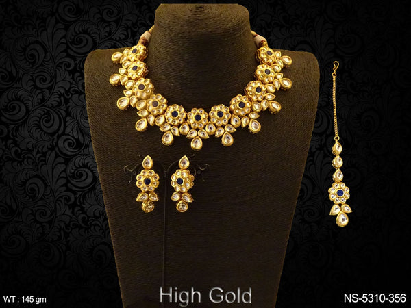 Multi Flower Style Kundan Necklace