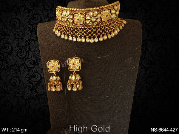 Bollywood design full paan kundan necklace set