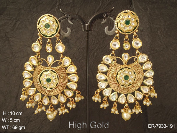 Bollywood bridal heavy kundan earring