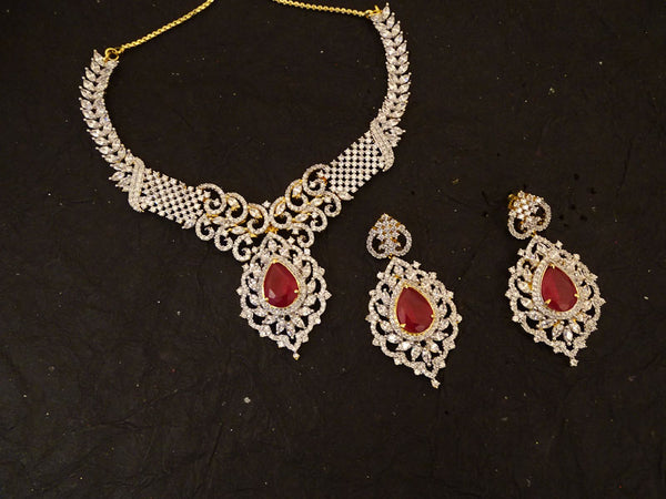 bridal paan based ad necklace set