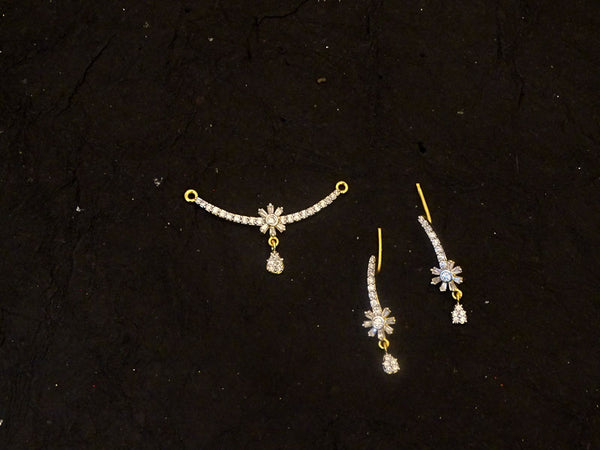 flower delicate mangalsutra ad pendant set