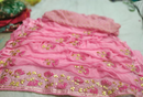 Pure Goergette Satin Patta Saree