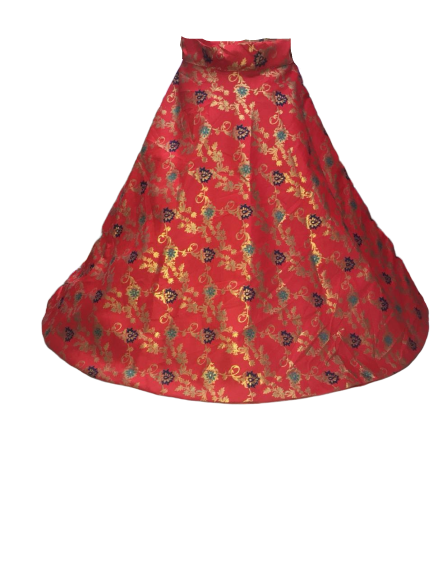 Stylish Brocade Lehenga with Lining Zib Dori - FASHION VERIZON ™