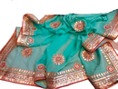 Newly Pure Georgette Saree with Heavy Gotta Patti Handy Work - FASHION VERIZON ™