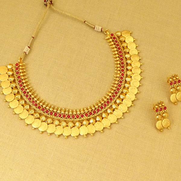 Ethnic Indian Dulhan Jewelry Anklet Bracelet Set Golden Polki Coin Chain Payal