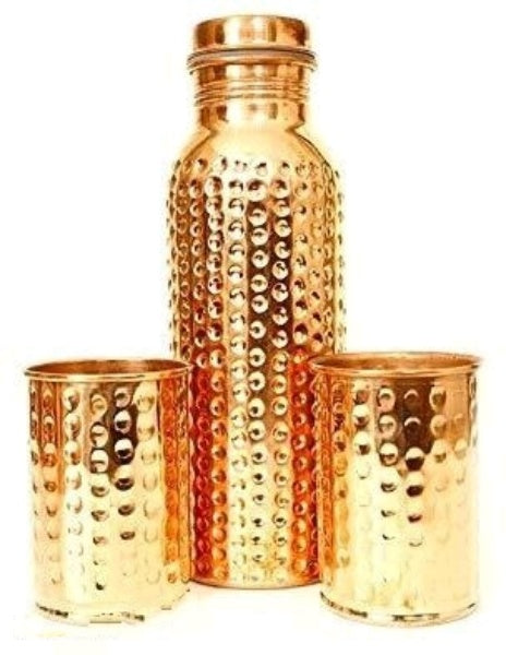 Health Mechanic Copper Bottle with 2Glass - FASHION VERIZON ™