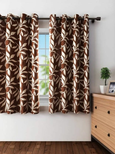 Fancy Polyester Window Curtains Combo (Pack Of 2) - FASHION VERIZON ™