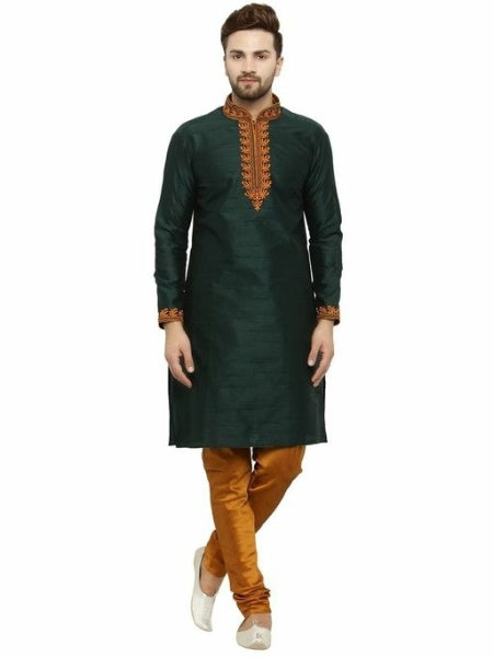 Attractive Ethnic Embroidery Kurta and Pyjama