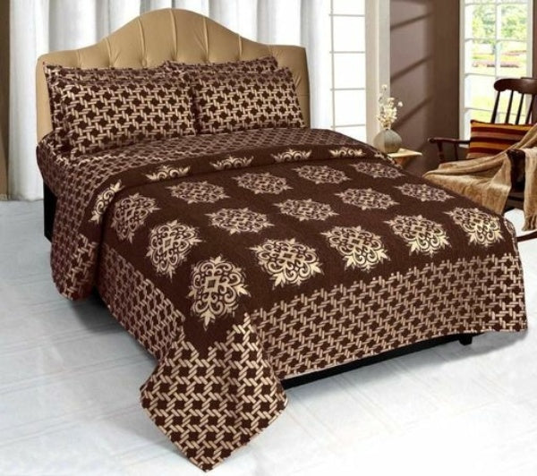 Impluse Printed Chenille Double Bedsheet - FASHION VERIZON ™