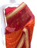 Traditional Gota Bandhej Saree