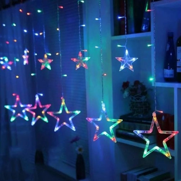 Multi-Color LED Star String Curtain Lights - FASHION VERIZON ™