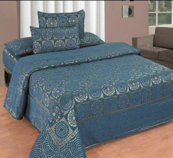 Amazing Printed Chenille Double Bedsheet - FASHION VERIZON ™