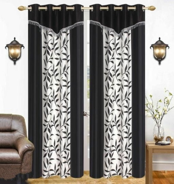 Home Trendy Printed Polyester Long Door Curtains Combo (Pack Of 2) - FASHION VERIZON ™