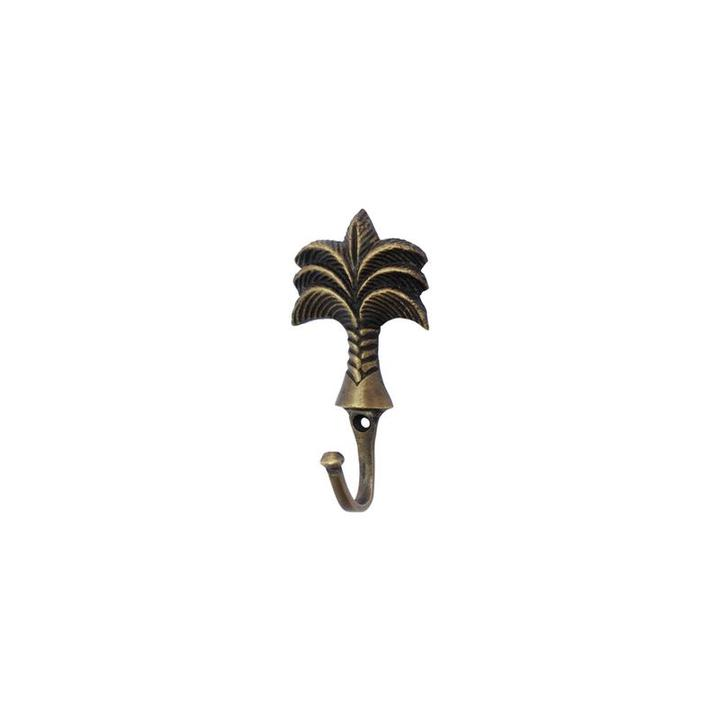 Brass Palm Tree Hook - Small