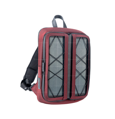 x.  Vivid diagonal shoulder bag Red
