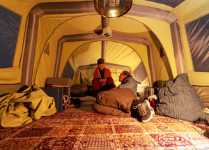 Massive interior of GT Sky Loft Glamping Roof-Top tent