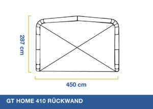 "Optional Back Wall for GT Home 310 ""Add-a-Room"""