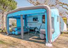 Load image into Gallery viewer, GT Home Annex Add-a-Room attached to RV with sides rolled up