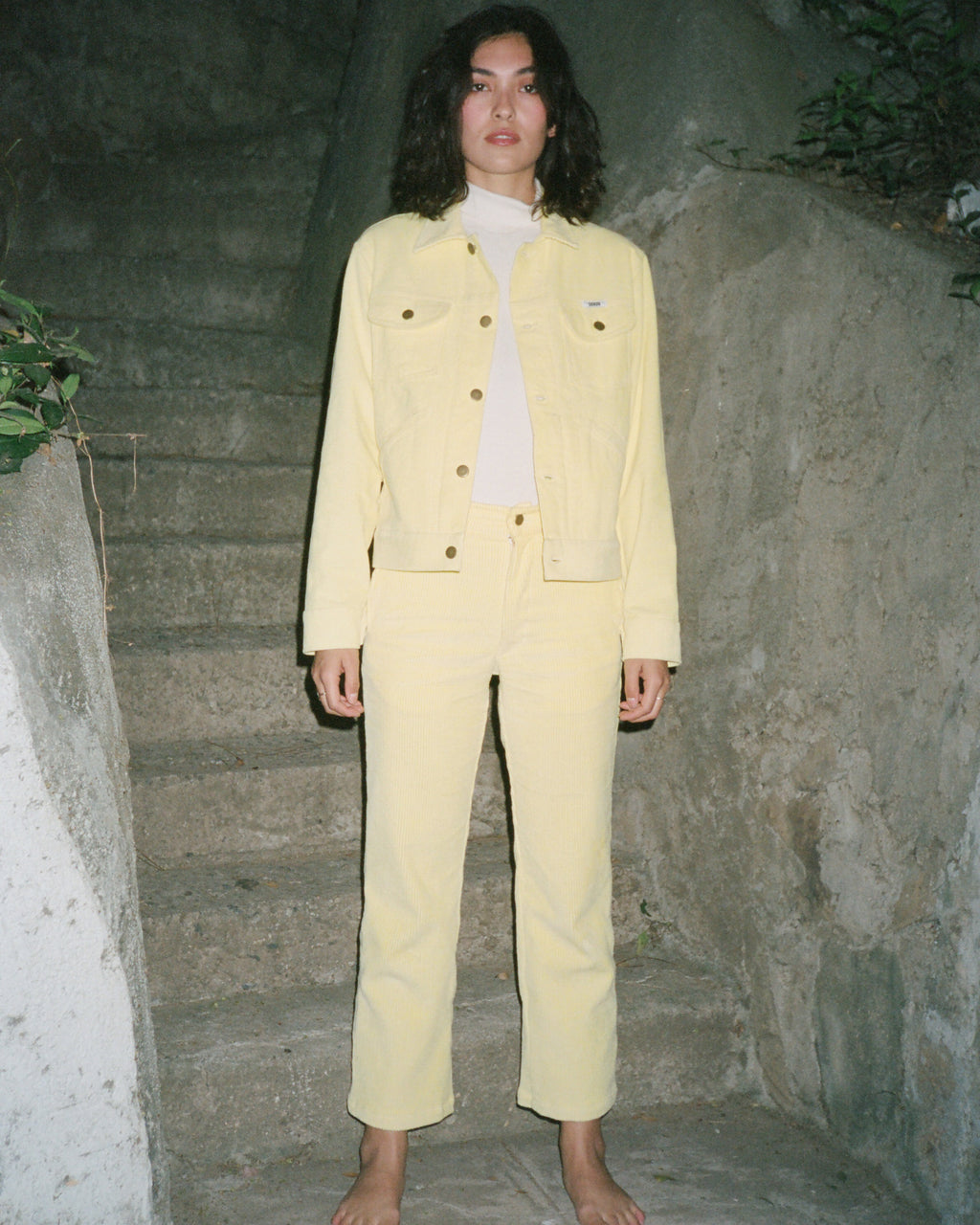 Corduroy Pant in Mellow Yellow