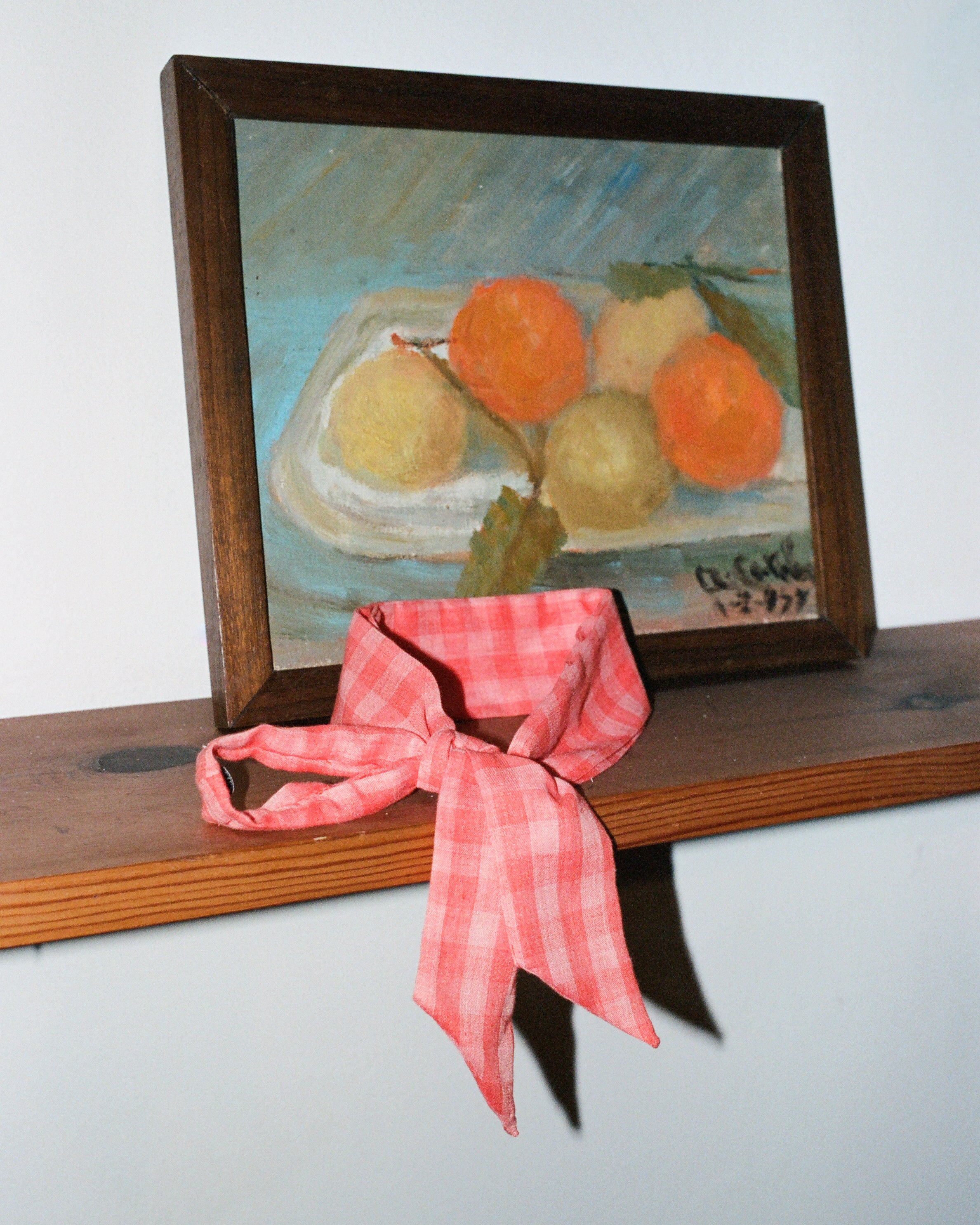 Everyday Scarf in Coral Gingham