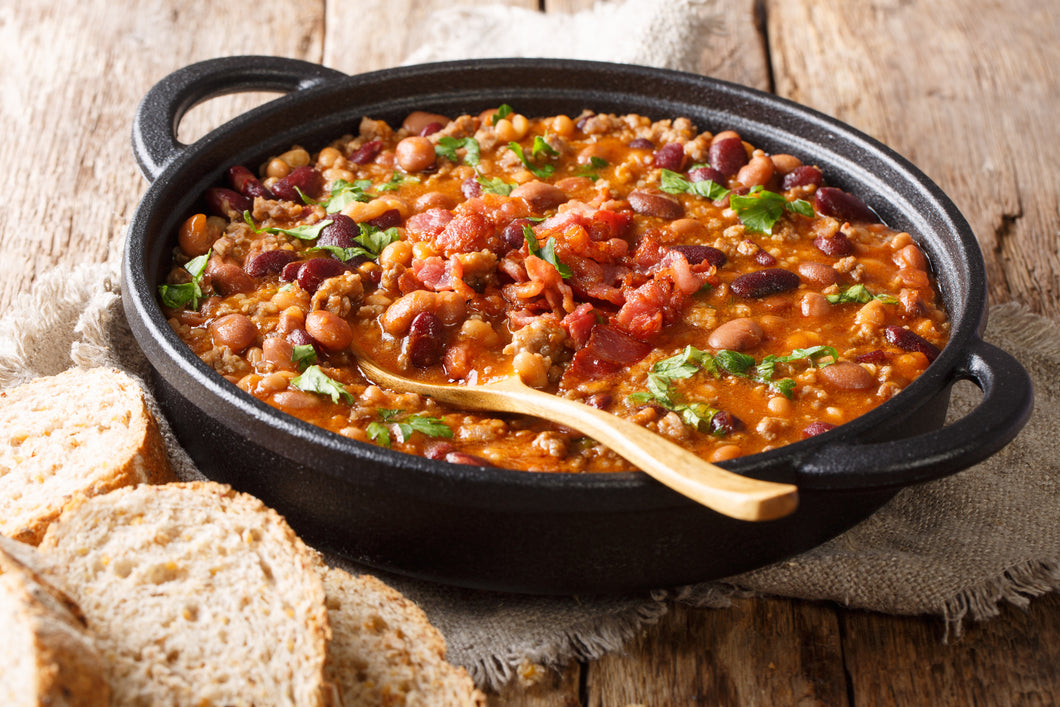 BBQ Bean Beef Chilli (makes 2 portions)