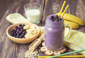 Blueberry Soya Milk Smoothie