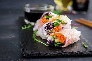 Fresh Spring Rolls with Satay Sauce