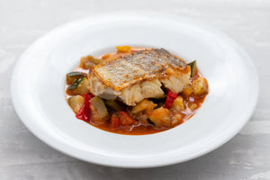 Grilled trout with ratatouille