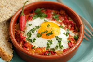 Mexican style baked eggs