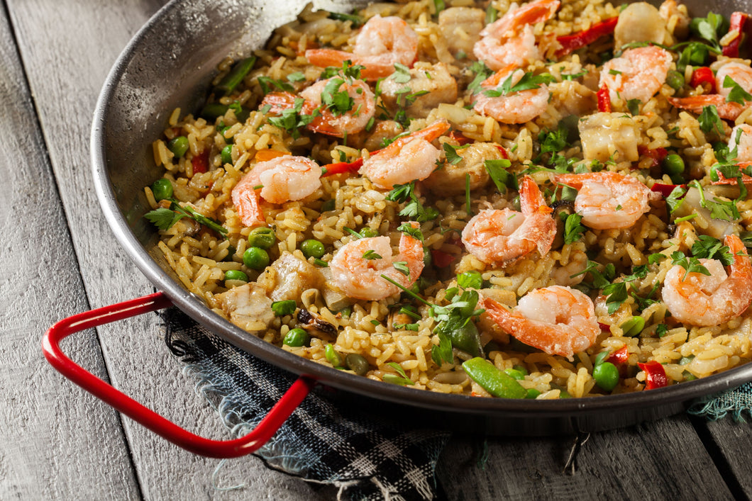 Simple Prawn Paella