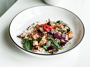 Tofu and Aubergine Stir-Fry