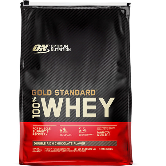 Optimum Nutrition Gold Standard Whey 10lb + Protein Crunch Bar