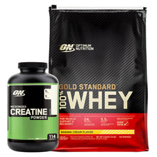 Load image into Gallery viewer, ON Gold Standard Whey 10lb + Creatine 114 Serves