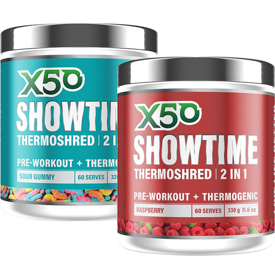 X50 Showtime Thermoshred Twin Pack