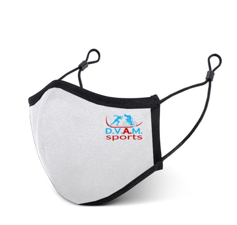 White Sports Face Mask
