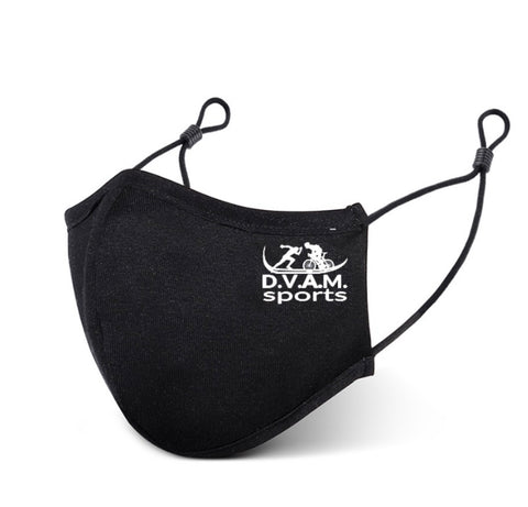 Black Sports Face Mask