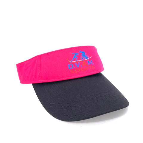 One detachable visor pink and black