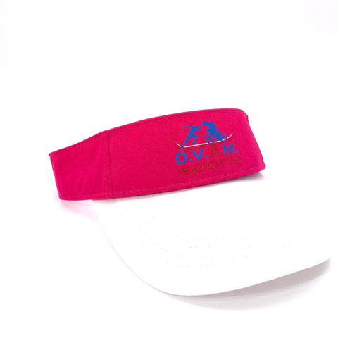 One detachable visor pink and white
