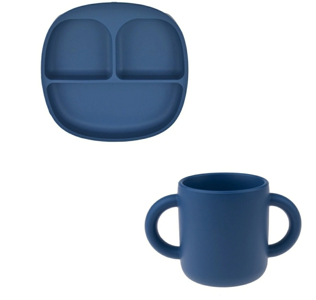 The Carter Tray & Cup Set - Blue | Bonded By Babies