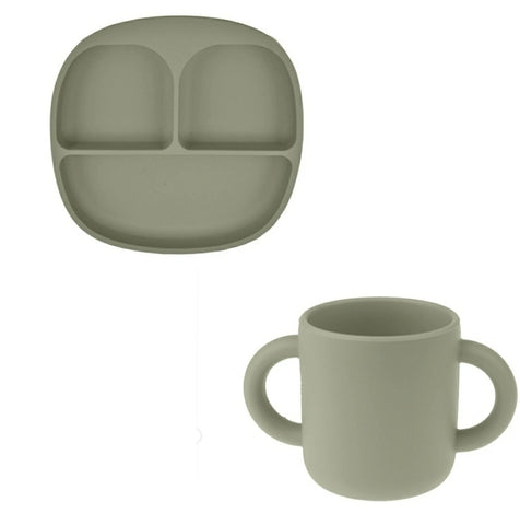 The Jackson Tray & Cup Set - Green | Bonded By Babies