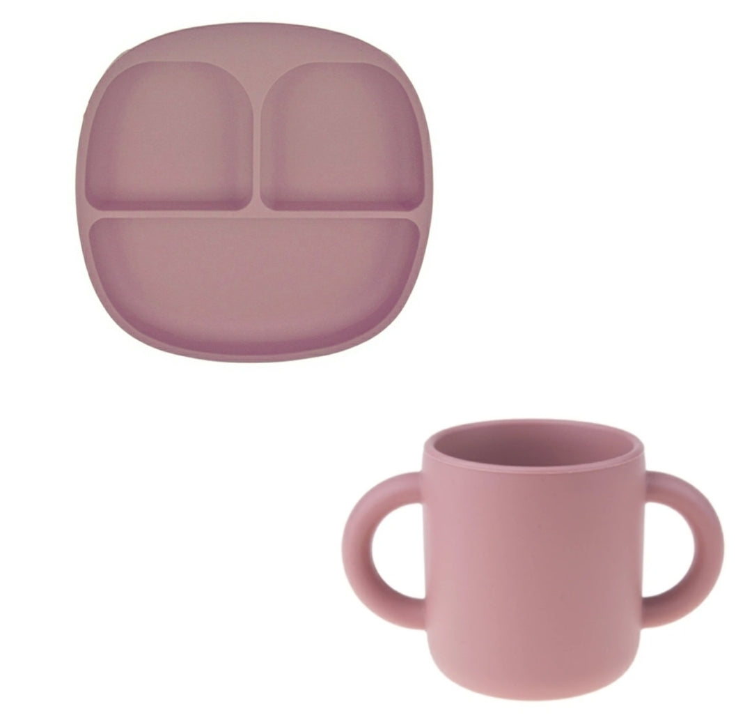 The Bella Tray & Cup Set - Pink | Bonded By Babies