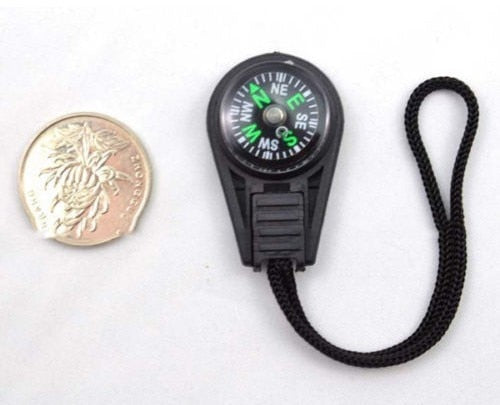 3 in 1 Compass Travel Hiking Camping Survival Thermometer Keychain Carabiner UK