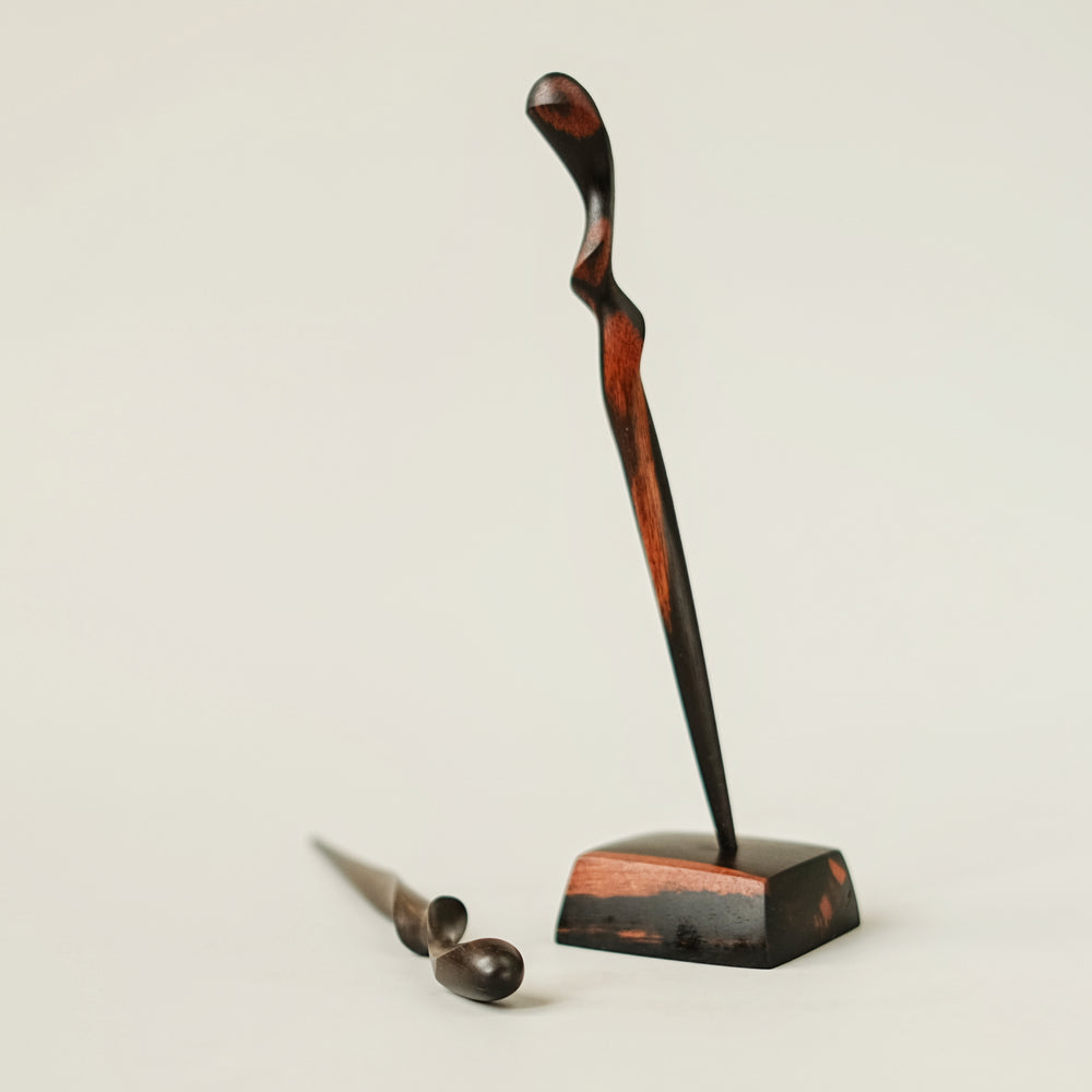 Load image into Gallery viewer, Ebony Hair Stick Stand no. 120