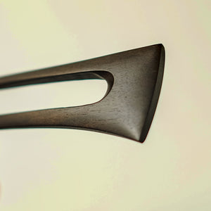Ebony fork no. 720 black detail