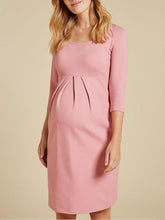 Load image into Gallery viewer, Maternity casual solid color dress