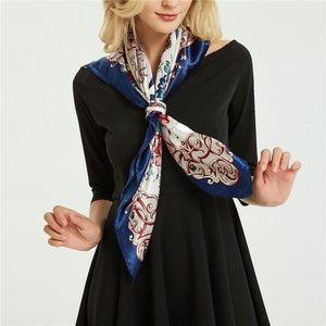 Women's color matching elegant scarf