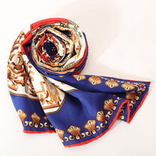 Load image into Gallery viewer, Classic car printed twill hand silk scarf