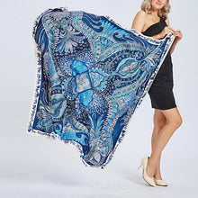 Load image into Gallery viewer, Retro laides printing imitated silk twill scarf